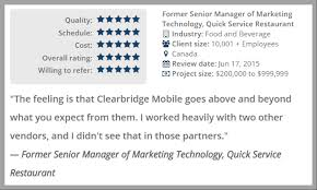 high t senior reviews clearbridge named a top canadian app development company