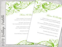 green wedding invitations wedding invitation template green diy wedding invitations