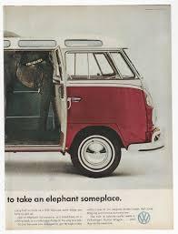 old volkswagen station wagon original volkswagen ad elephant vw van station wagon 1960 u0027s