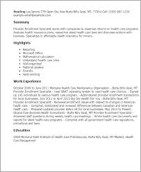 Resume Examples For Professionals by Professional Provider Enrollment Specialist Templates To Showcase