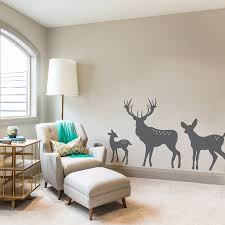 wall decal awesome deer decals for walls tree and deer wall deer decals for walls deer family wall decal wallums wall decals