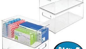 Desk Storage Containers Mdesign Square Office Desk Cabinet Storage Organizer Bin Clear