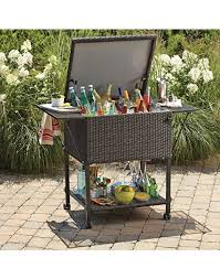 wicker cooler cart