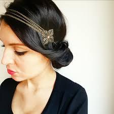 style boheme chic headband fleurs bronze et perles corail head band vintage style