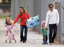 tobey maguire hits the park with his kids and great gatsby u0027do