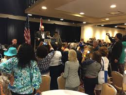 hillary clinton running mate tim kaine visits florida delegates