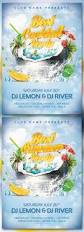 summer cocktail party event flyers and print templates