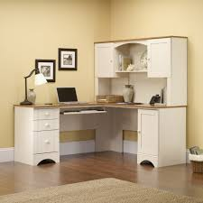 Sauder Harbor View Computer Desk With Hutch by Sauder Harbor View Corner Computer Desk In Antiqued Paint