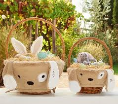 easter baskets for boy puppy easter basket liners pottery barn kids