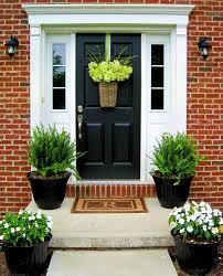 front door plants u0026 plants with tall urns for front door