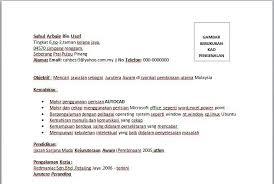 cara membuat resume kerja yang betul contoh resume jurutera awam contoh resume