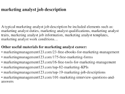 interview questions for marketing job marketing analyst job description