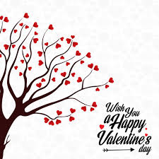 A Happy Valentine Will The by Wish You A Happy Valentine U0027s Day Heart Tree Background Vector