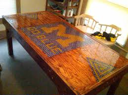 build a beer pong table need to make this michigan beer pong table made with bottle caps
