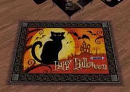 second life marketplace halloween door mat happy halloween cat 3