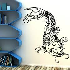 compare prices on chinese walls online shopping buy low price g138 carp fish chinese fishing vinyl wall art room sticker decal children bedroom bedroom wall art