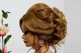 bridal hairstyle for long medium hair wedding prom updo youtube