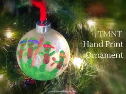 ninja turtle hand print ornament munofore