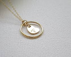 sted initial necklace chosen necklace etsy