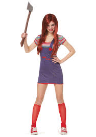 scary girl costumes sassy childs play costume chucky costumes