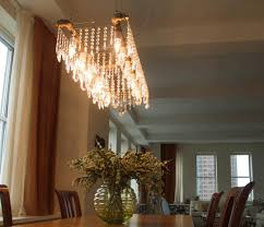 Formal Dining Room Chandelier Rectangle Pvc Pipe Chandelier Wedding Kara Jeff Pinterest