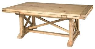 solid wood trestle dining table solid wood trestle dining table homecoming solid wood refractory