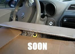 Soon Car Meme - irti funny picture 498 tags owl eye box car soon