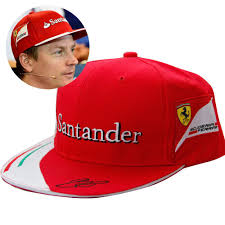 ferrari hat new ferrari red kimi raikkonen signed cap f1 formula one 1 racing