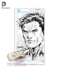 first look at dc u0027s jim lee blueline superman figure