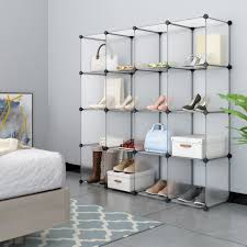 amazon com langria metal shoe rack shoe tower shelf storage