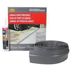m d building products 10 ft gray garage door threshold kit 50100