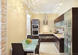 small modern kitchen ideas modern kitchen ideas with wood glass doors and small chandelier