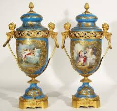 Sevres Vases For Sale A Pair Of Ormolu Mounted Sevres Style Potpourri Vases 19th C Of