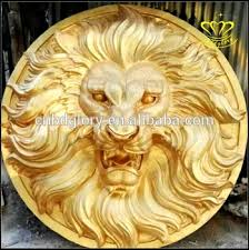 gold lion statues animal bust gold lion hanging wall resin fiberglass