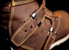 mens buckle biker boots mens icon one thousand 1000 elsinore oiled brown motorcycle