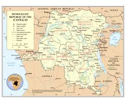 Map Of Zambia Maps Of Congo Democratic Republic Detailed Map Of Congo