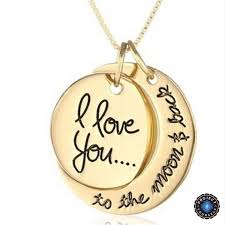 love you gold necklace images I love you to the moon and back sun and moon pendant necklace jpg