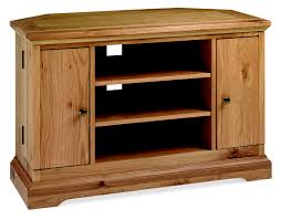 provence oak corner tv unit with dvd storage buy online