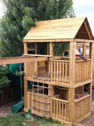Backyard Swing Set Ideas Garden Spider Brown On Sale Kids Garden Playground Slide And Swing