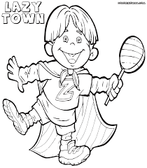 lazy town coloring pages coloring pages to download and print