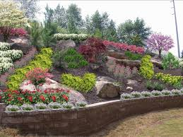 Backyard Slope Landscaping Ideas Decor Of Backyard Slope Landscaping Ideas Backyard Hillside
