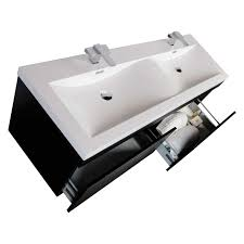 modern sinks and vanities 57 modern double sink vanity set with wavy sinks black tn a1440