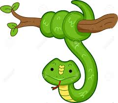 snake hanging from tree clipart clipartxtras