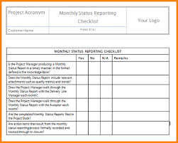 monthly project report template monthly management report