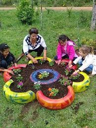 como hacer macetas con llantas recicladas paso a paso macetas de llantas recicladas garden life 3 pinterest llantas