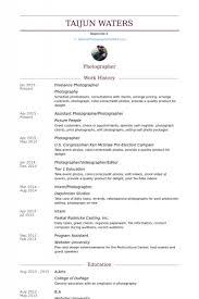 photographer resume examples freelance photographer and writer