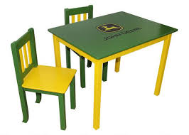 john deere table and chair set green chairs kids