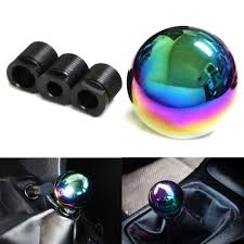 mazda mitsubishi jdm neo chrome round shift knob fit for acura honda mazda nissan