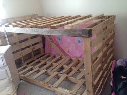 Pallet Bunk Beds Bunk Bed Of Pallets 100 Repurposed Wood Pallets Foot