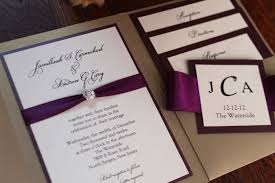 wedding invitation pockets square pocket wedding invitation plum invitation rhinestone